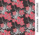 trendy floral pattern....   Shutterstock .eps vector #1681551865