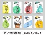 happy hour cocktail bar menu... | Shutterstock .eps vector #1681564675