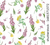 seamless pattern with yellow... | Shutterstock .eps vector #1681571572