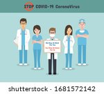 doctors  nurses and medical... | Shutterstock .eps vector #1681572142