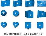 various designs of the somalia...   Shutterstock . vector #1681635448