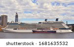 luxury cruise liner the... | Shutterstock . vector #1681635532
