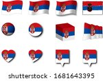 various designs of the serbia...   Shutterstock . vector #1681643395
