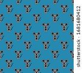 seamless pattern cute rat... | Shutterstock .eps vector #1681680412