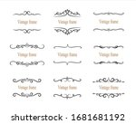 hand drawn set of decorative... | Shutterstock .eps vector #1681681192