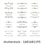 hand drawn set of decorative... | Shutterstock .eps vector #1681681195