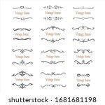 hand drawn set of decorative... | Shutterstock .eps vector #1681681198