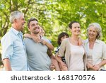 portrait of cheerful extended... | Shutterstock . vector #168170576
