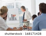 senior businessman presenting... | Shutterstock . vector #168171428