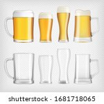 different beer glasses and mugs | Shutterstock .eps vector #1681718065