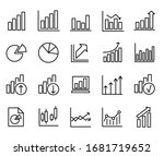 chart and graph line icons set... | Shutterstock .eps vector #1681719652