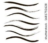 makeup strokes  set of mascara... | Shutterstock .eps vector #1681752628