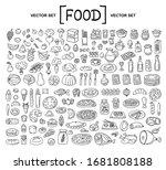 vector cartoon set on the theme ... | Shutterstock .eps vector #1681808188