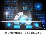 technology car interface | Shutterstock . vector #168181358