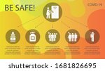 sars filled icon set on theme... | Shutterstock .eps vector #1681826695