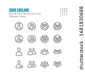 simple set of exclude user or... | Shutterstock .eps vector #1681830688