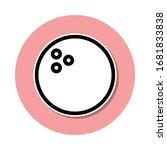 bowling ball sticker icon....