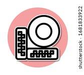 surveillance camera sticker...