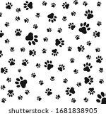 paw print seamless logo icon...   Shutterstock .eps vector #1681838905