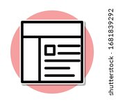newspaper sticker icon. simple...