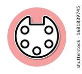 palette sticker icon. simple...