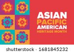 asian pacific american heritage ... | Shutterstock .eps vector #1681845232