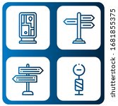 Set Of Guidepost Icons. Such As ...
