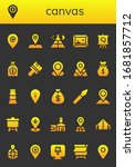 canvas icon set. 26 filled...