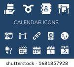 calendar icon set. 14 filled...