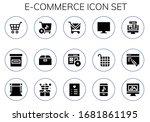 e commerce icon set. 15 filled... | Shutterstock .eps vector #1681861195