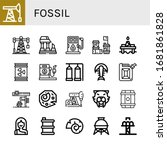 fossil icon set. collection of... | Shutterstock .eps vector #1681861828