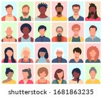 set of persons  avatars  people ... | Shutterstock .eps vector #1681863235