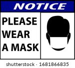 notice or mandatory sign for... | Shutterstock .eps vector #1681866835