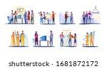 real estate development set....   Shutterstock . vector #1681872172