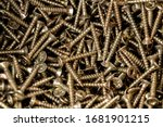 close up on pile of golden... | Shutterstock . vector #1681901215