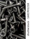 close shot on pile of black... | Shutterstock . vector #1681901218