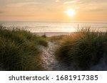 Beach Sunset On Sylt Island At...