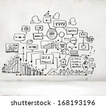 business ideas sketch image on... | Shutterstock . vector #168193196