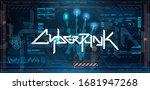 futuristic cyberpunk poster... | Shutterstock .eps vector #1681947268