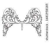 ornamental decor of vintage... | Shutterstock .eps vector #1681958185