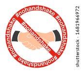 no handshake icon.  nohandshake.... | Shutterstock .eps vector #1681966972