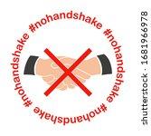 no handshake icon.  nohandshake.... | Shutterstock .eps vector #1681966978