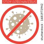 stop coronavirus sign. stop...   Shutterstock .eps vector #1681972942