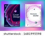 electronics music set covers....   Shutterstock .eps vector #1681995598