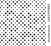 seamless polka dot pattern.... | Shutterstock .eps vector #1681999885