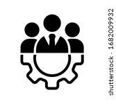 teamwork management icon or... | Shutterstock .eps vector #1682009932