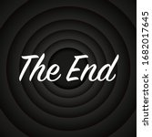 old black movie ending screen... | Shutterstock .eps vector #1682017645