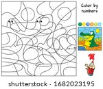 Crocodile. Color By Numbers....