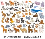 illustrated series of various... | Shutterstock .eps vector #1682033155