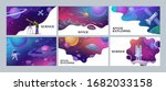 four colorful space and science ... | Shutterstock .eps vector #1682033158